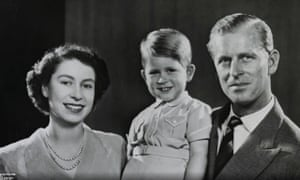 Prince Charles with the Queen and Duke of Edinburgh
