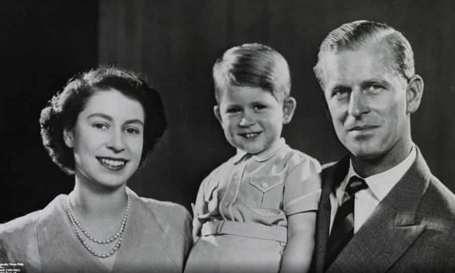 Prince Charles with Queen and Duke of Edinburgh.
