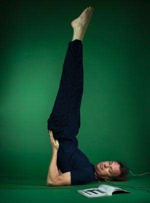 Tim Dowling doing yoga