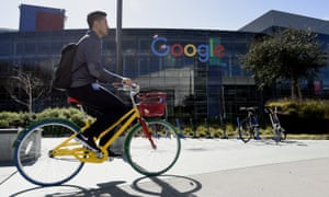 The Google campus in Silicon Valley. Men occupy 80% of tech jobs and 75% of leadership roles, according to the company's own figures.
