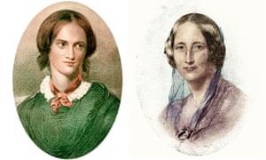 'She's a she!' … Charlotte Brontë (1816-1855), left, and Elizabeth Gaskell (1810-1865).