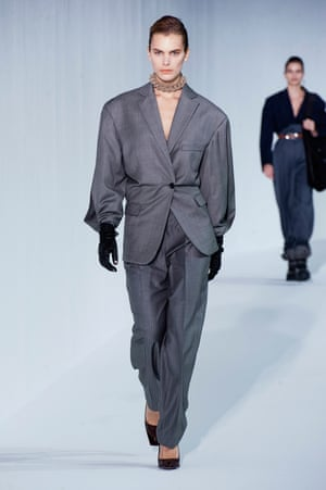 Acne Femme goes for grey at Paris Fashion Week.