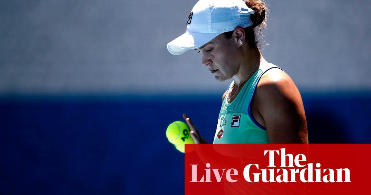 Australian Open semi-finals: Kenin stuns Barty, Halep v Muguruza – live!