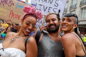 Revellers at the Pride parade in London