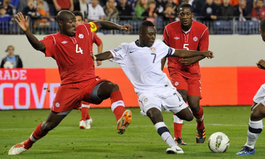 Could a strong Canada team benefit the US national side? Canada won this 2012 CONCACAF Qualifying match (above) in Tennessee 2-0.