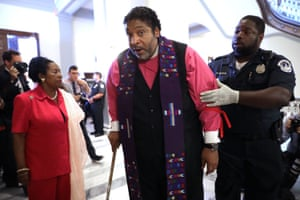 William Barber is arrested in July 2017 for protesting against GOP efforts to repeal Obamacare.