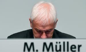 VW's chief executive Matthias Müller