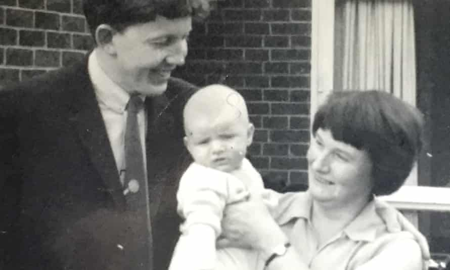 Playwright Mark Ravenhill as a baby in 1967, with his mother and father