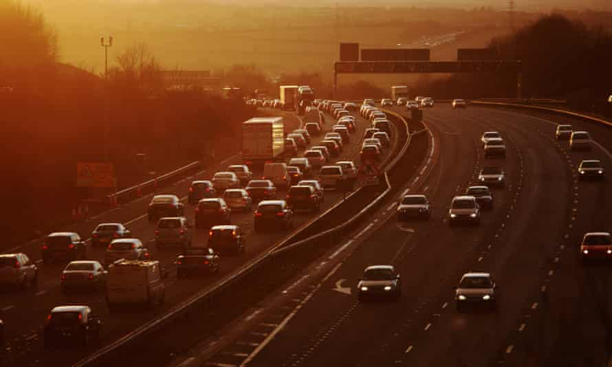 The M4 motorway at rush hour