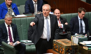 Scott Morrison in the House of Representatives on Tuesday