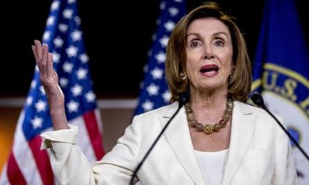 Nancy Pelosi on Capitol Hill in Washington DC Thursday.