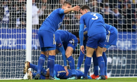 Leicester City's Demarai Gray takes pains to sink Burnley