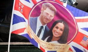 A Prince Harry and Meghan Markle flag