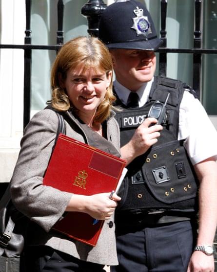 Ruth Kelly leaves Downing Street, 2008.