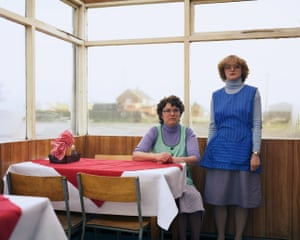 Cafe Assistants, Compass Cafe, Colsterworth, Lincolnshire, November 1982