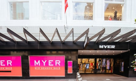 exterior of a shuttered Myer store
