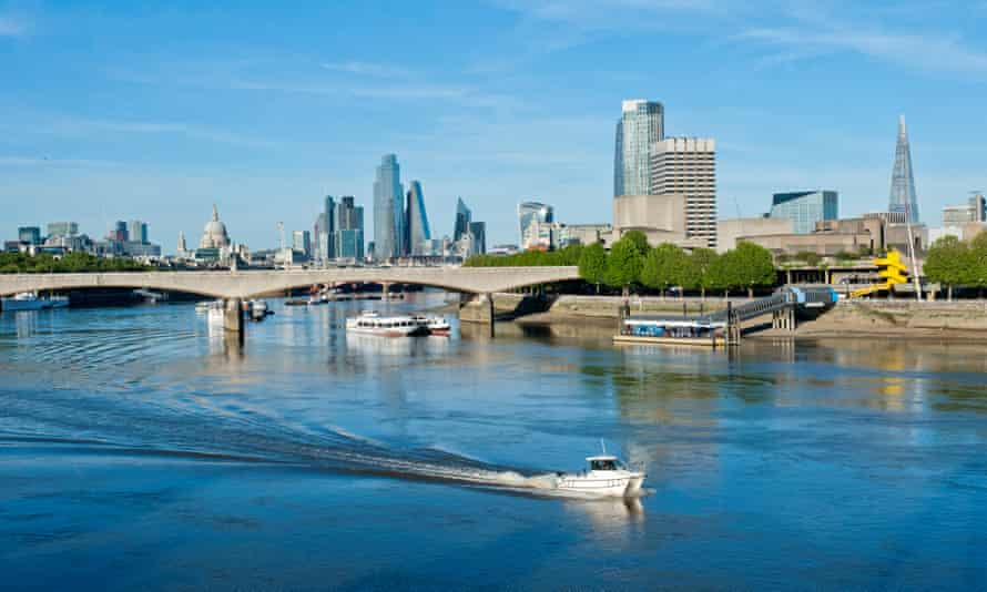The River Thames in London.