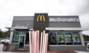 McDonald's and plastic straws