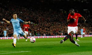 Manchester United's Paul Pogba shoots.