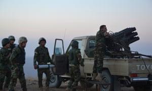 Peshmerga forces prepare to attack Islamic State militants in Mosul, Iraq.
