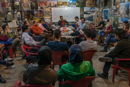 Poetry event in Tehran organised by a local Couchsurfing member