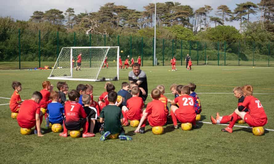 Youth training at Llanelli AFC