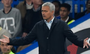 Chelsea manager José Mourinho watches his team during the defeat to Southampton.