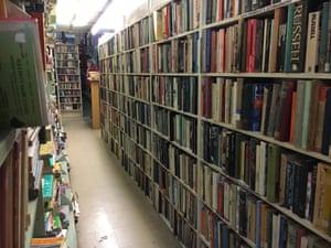 An aisle of Gould's Book Arcade