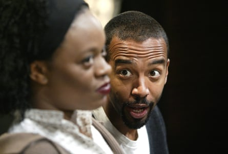 Cecilia Noble and Kevin Harvey in Yellowman at the Hampstead theatre in 2004.