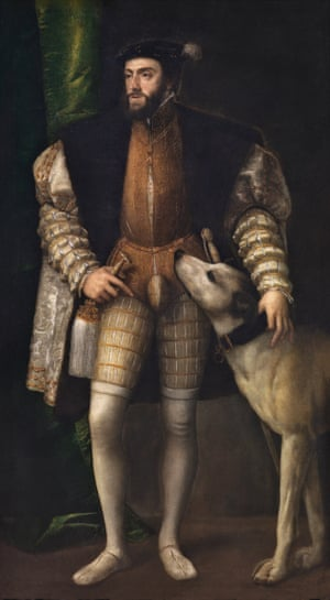 Titian's Charles V with a Dog, 1533.