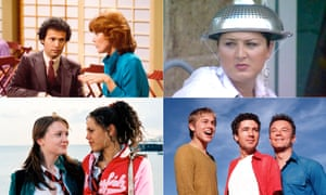 Clockwise (from top left): Soap, Big Brother series 5, Queer as Folk and Sugar Rush.