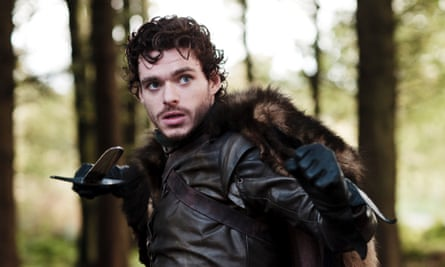 Richard Madden as Robb Stark in Game Of Thrones.