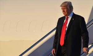 Donald Trump steps off Air Force One