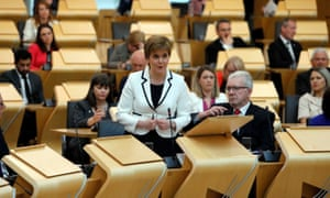 Nicola Sturgeon and other MSPs in the Scottish Parliament
