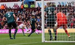 Aston Villa's John McGinn scores their second goal.