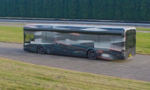 An Arrival bus in testing. The company's buses will start trials in the UK with First Group.