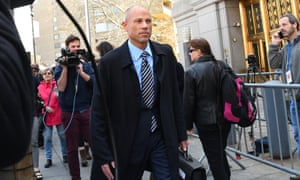Michael Avenatti, the attorney for porn actor Stormy Daniels, exits court in New York City on 26 April.