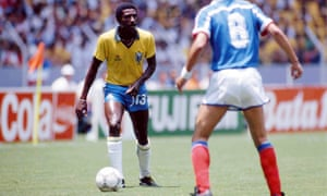 Josimar in action against France during the 1986 World Cup quarter-final