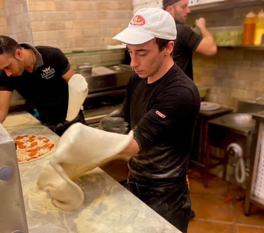 Samuele Agnetta, 27, pizza maker.
