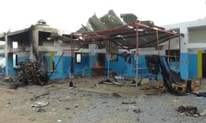 A hospital supported by MSF after it was hit by a Saudi-led airstrike on 16 August 2016.