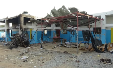 A hospital hit by airstrike