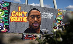 A mural depicting George Floyd is pictured at Mauerpark in Berlin, Germany.
