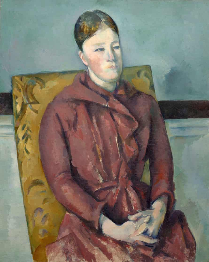 Madame Cézanne in a Yellow Chair 1888-90 by Paul Cézanne.