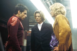 Bowie appearing in Zoolander in 2001.