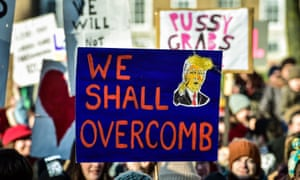 Having a laugh can smash down walls … the Bristol women's march on January 21.