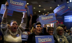 Supporters cheer at a campaign rally for Bernie Sanders in Reno, Nevada February 19, 2016.