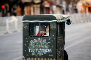 Beijing, China: A woman and toddler