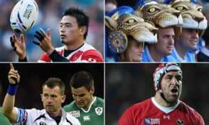 Japan's outstanding full-back Ayumu Goromaru; Argentina's colourful fans; Canadian schemer Jamie Cudmore; and wise-cracking referee Nigel Owens.
