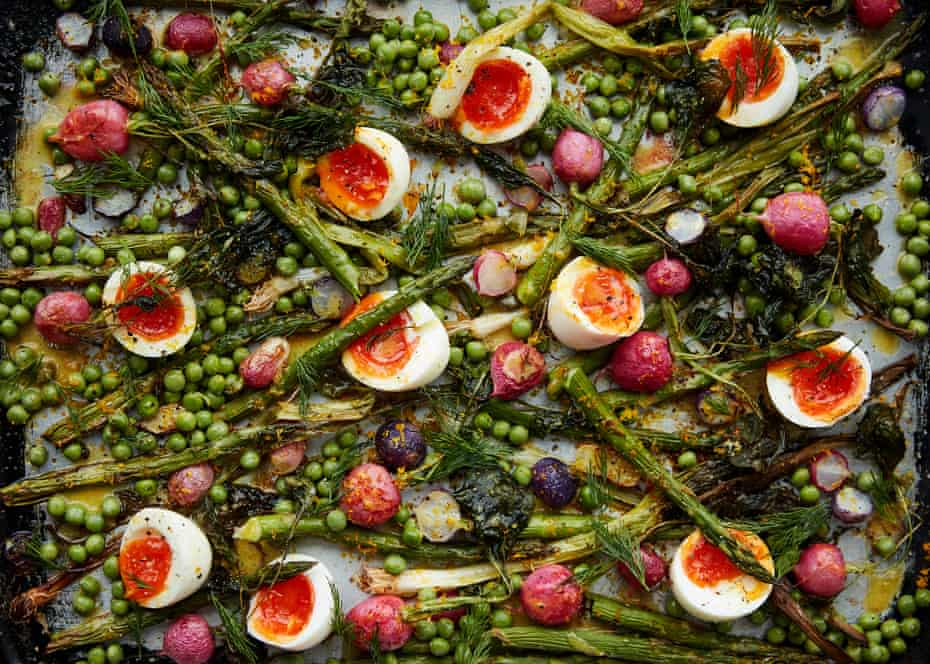 Anna Jones's mustard- and orange-dressed spring salad.