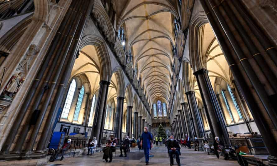 Salisbury cathedral being used as a vaccination hub